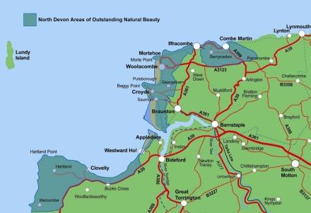 North Devon Map Coastal Map Making | North Devon Coast
