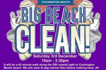 Cockington Mouth Beach Clean Poster