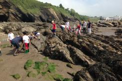 Combe Martin Sea School on the beach
