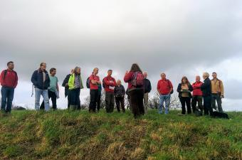 Volunteers on an Iron Age Monument