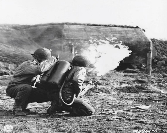 US troops live firing at the rocket wall